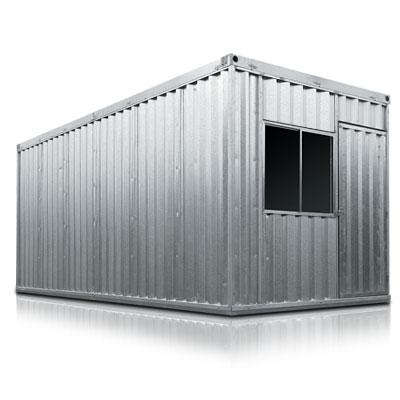 Imagem de um container galvanizado produzido pela superloc